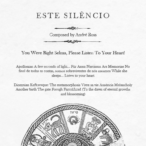 ESTE SILÊNCIO – You Were Right Selma, Please Listen To Your Heart! (2009)